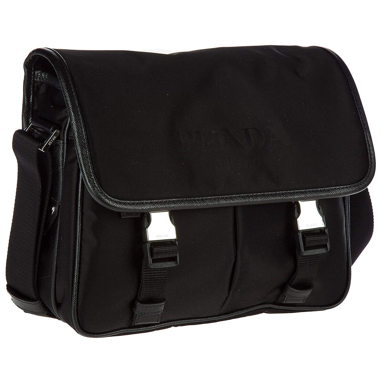 45e10b6d09b34a Amazon.com: Prada Men's Nylon Messenger Bag Black: Shoes