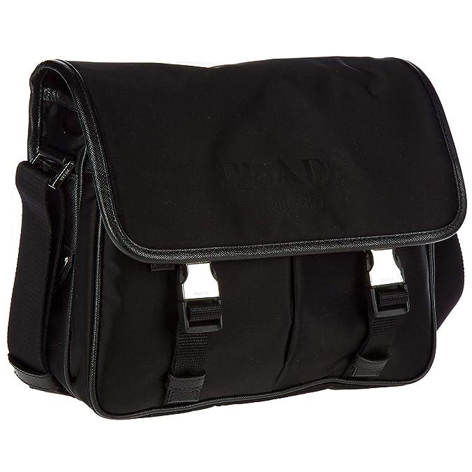 52e46d71083a Amazon.com: Prada Men's Nylon Messenger Bag Black: Shoes
