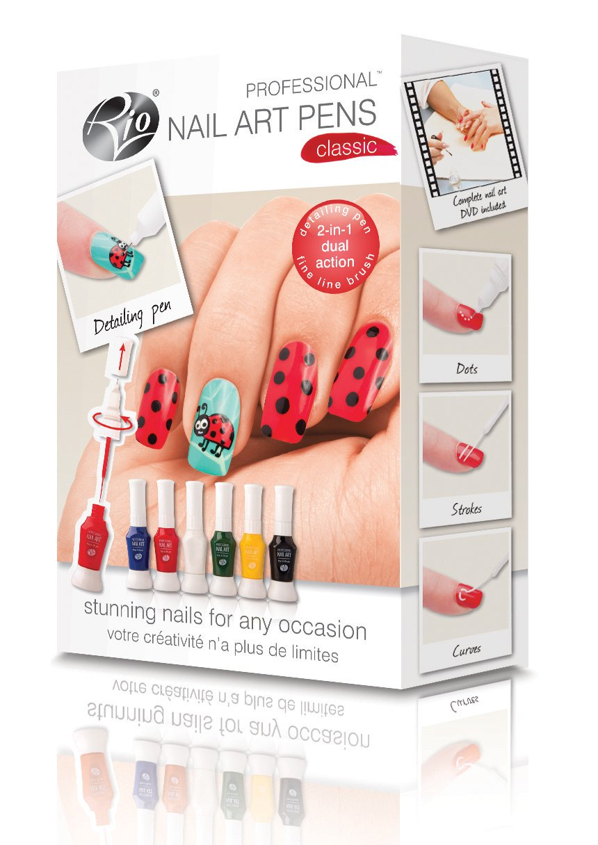 Rio Beauty Professional Nail Art Pens - Original Collection: Amazon ...