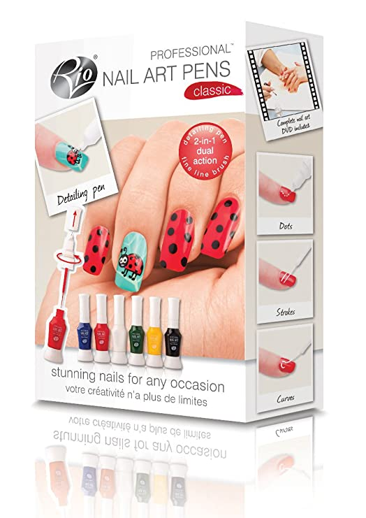 Rio Beauty Professional Nail Art Pens Original Collection Amazon