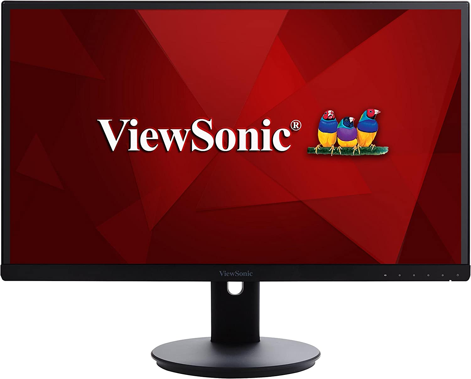 ViewSonic VG2753 27 Inch IPS 1080p Ergonomic Frameless Monitor with HDMI and DisplayPort for Home and Office