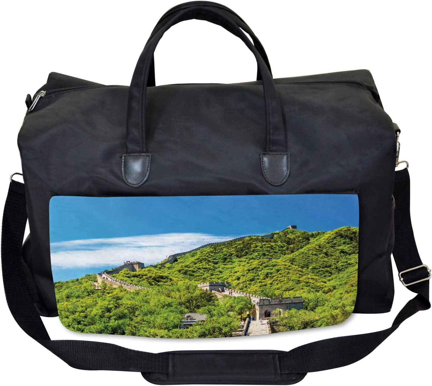 Ambesonne View Gym Bag Large Weekender Carry-on Nature Panorama