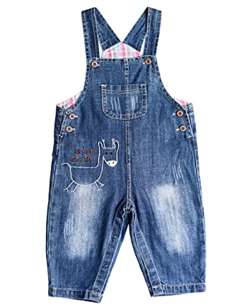 190776c71adb BUYIIT Baby Little Kids Denim Dungarees Cartoon Soft Washed Jeans ...