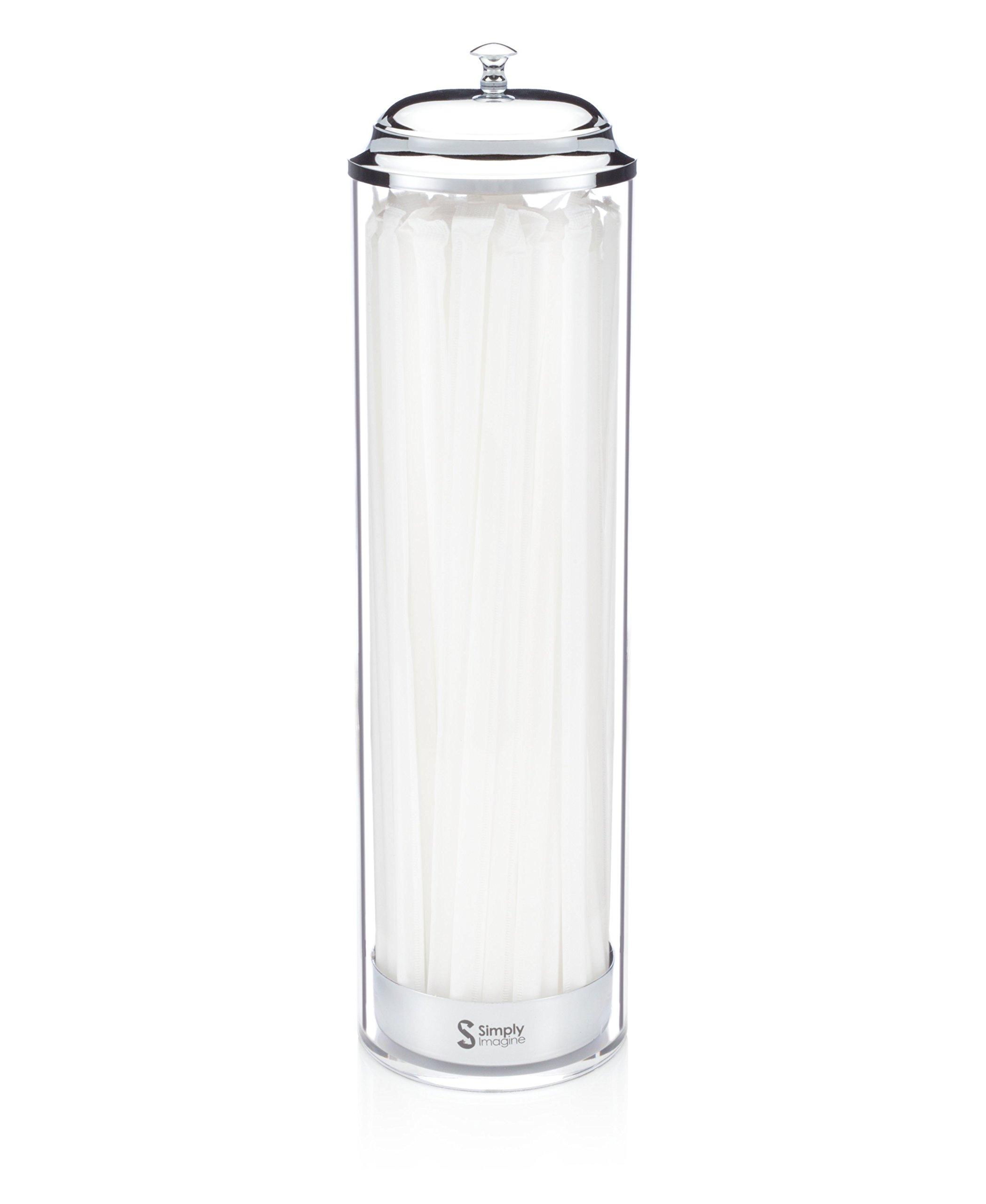 SimplyImagine Acrylic Straw Dispenser