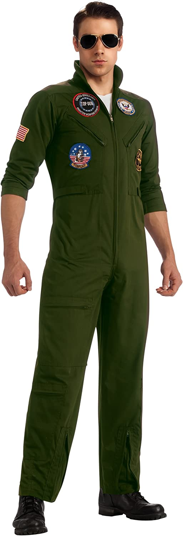 Disfraz aviador Top Gun con gafas Deluxe adulto M / L: Amazon.es ...