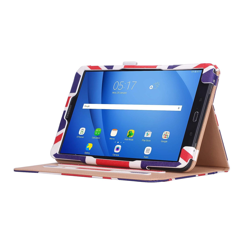 Sostenedor de la Pluma para Samsung Galaxy Tab A6 10.1 2016 Samsung Galaxy Tab A 10.1 Funda Monedero VOVIPO Cascara Case de Cuero PU Ranuras para Tarjetas Banda El/ástica
