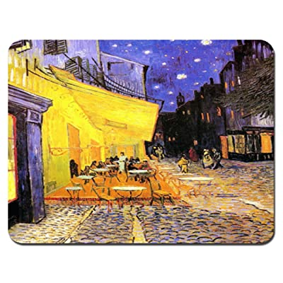 Meffort Inc® Standard 9.5 x 7.9 Inch Mouse Pad - Vincent van Gogh Cafe Terrace at Night