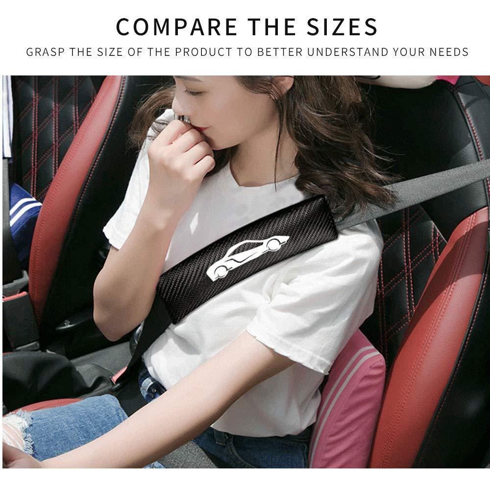 Para MX-5 2Pcs Almohadillas para cintur/ón de seguridad Personalizable de Fibra de Carbono para proteger el cuello y el hombro para adultos y ni/ños Blanco