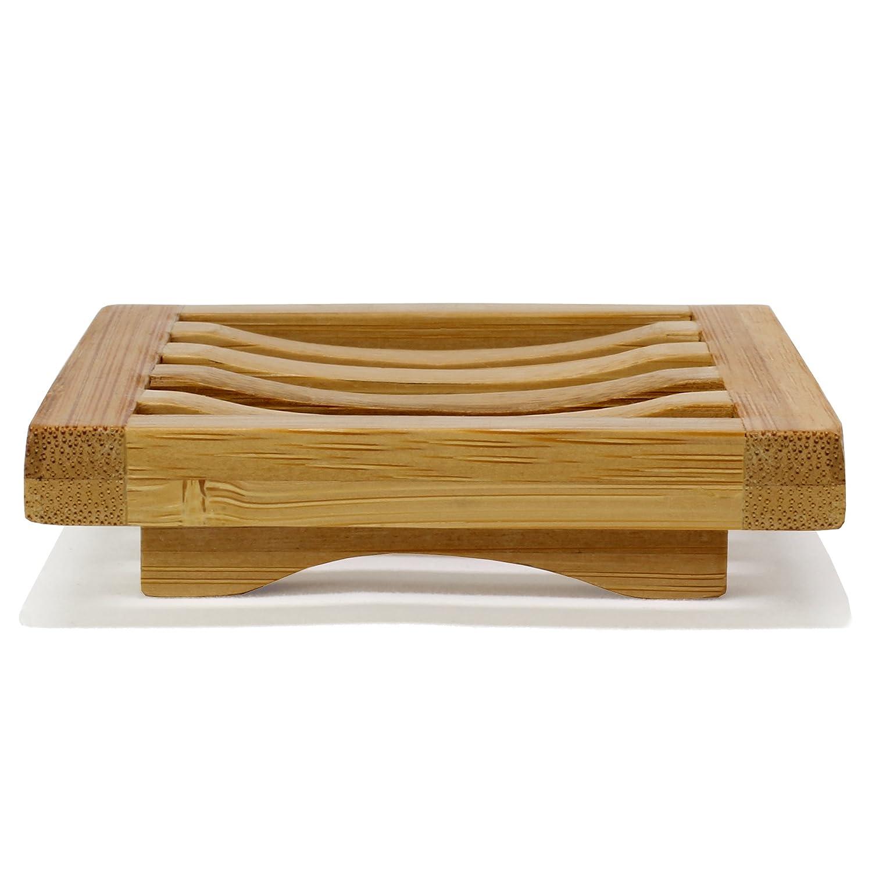 Amazon.com: Stjerne Nigiri Bamboo Soap Dish: Home & Kitchen