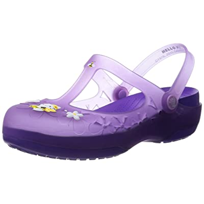 Crocs Womens Carlie Mary Jane Flower Hello Kitty Shoes | Mules & Clogs