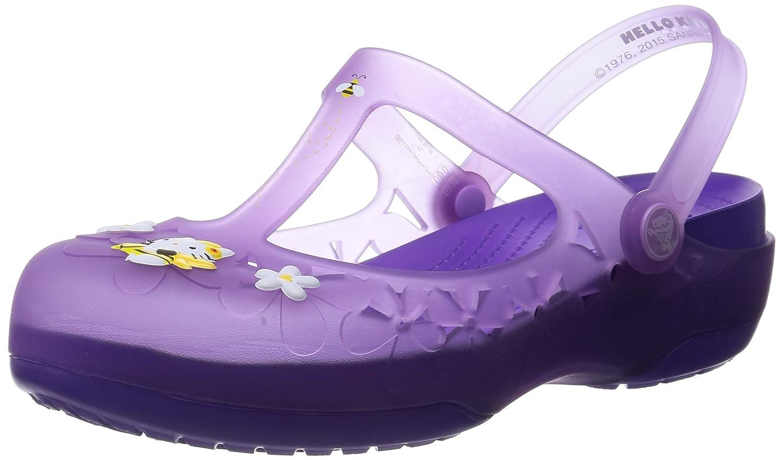 72d2ecfa0 Crocs Womens Carlie Mary Jane Flower Hello Kitty Shoes