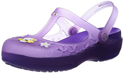 92359f28a7fa6c Crocs Womens Carlie Mary Jane Flower Hello Kitty Shoes