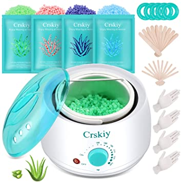 Amazon Com Crskiy Waxing Kit Wax Warmer Hair Removal For Women