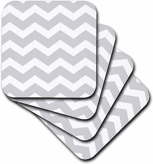 Black /& White Zig Zags Set of 4 Coasters
