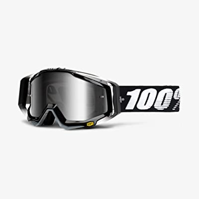 100% unisex-adult Goggle (Black,Mirror Silver,One Size) (RACECRAFT RC ABYSS Black Mirror Lens Silver) - 50110-001-02: Automotive