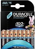 Duracell Ultra Power Piles Alcalines type AAA, Lot de 16 piles