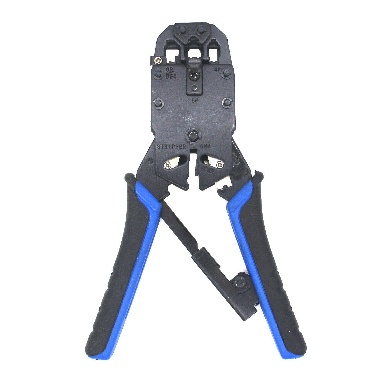AVESON Professional 4P/6P/8P RJ-45 RJ-12 RJ-11 Modular Crimping Tool Network Telecom Cable Pliers Ratchet Crimper