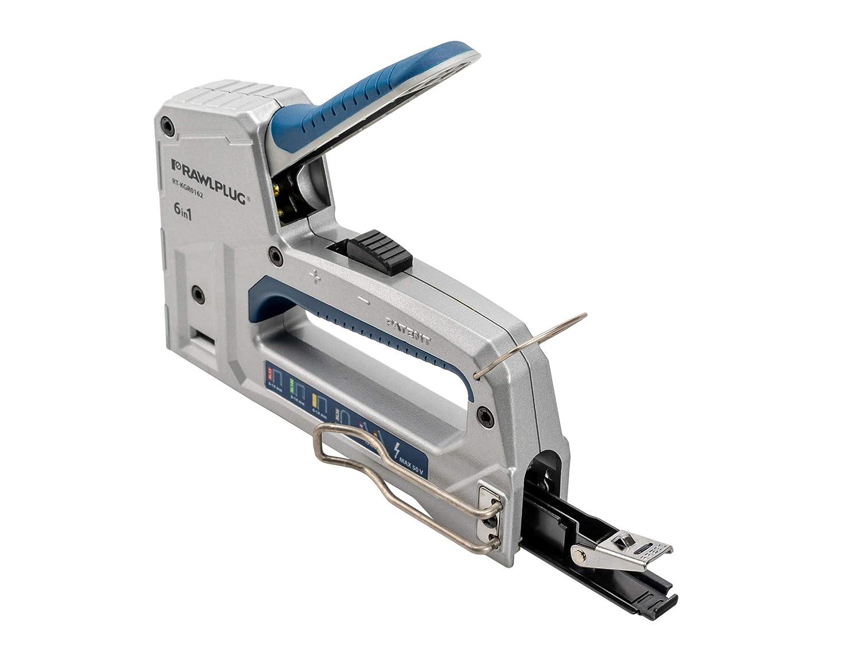 RT-KGR0162 Inhalt:1 Rawlplug Handtacker HEAVY DUTY 6in1 Heftklammern RL 53 6-14 mm N/ägel 14 mm Stifte 14 mm