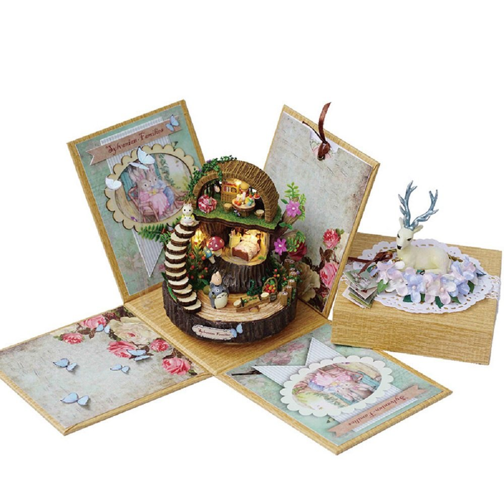Magic B0792SPC6K Fantastic Forest DIY Dollhouse Art Gift gift Music Valentine's Box Kit with Furniture Handicraft Valentine's Wedding gift with tool Girlfriend Birthday B0792SPC6K, 安達郡:16f8d6b0 --- alumnibooster.club