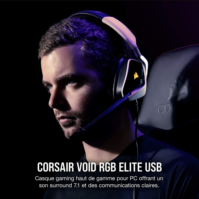 Corsair Void RGB Elite USB Blanc Casque micro Corsair