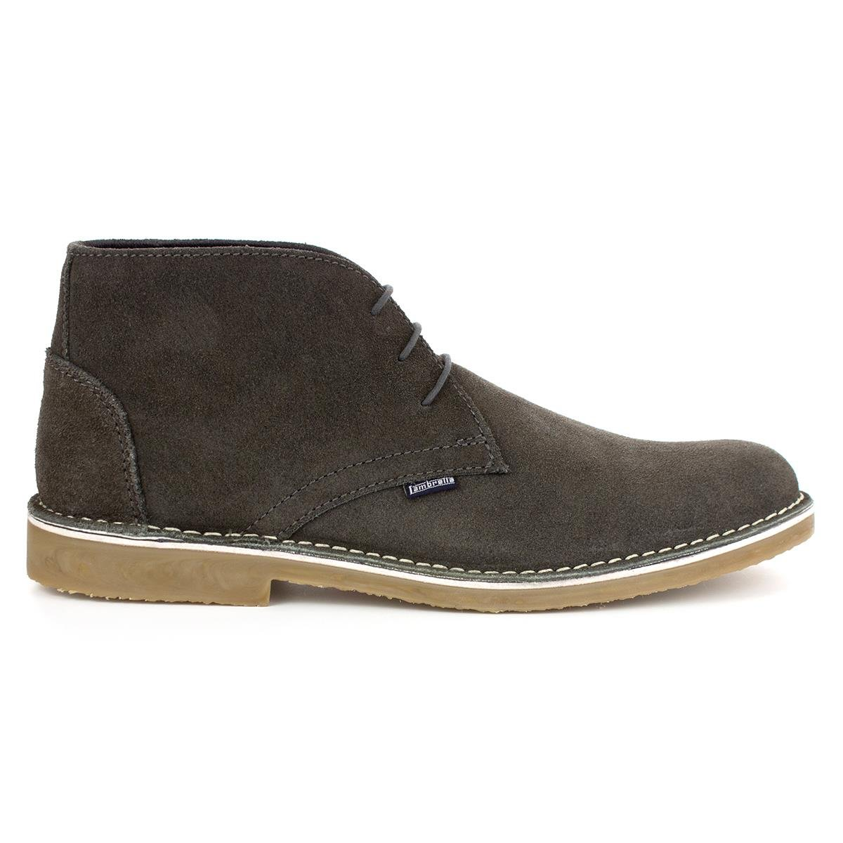 38ce482c59cf Lambretta Mens Grey Suede Lace Up Desert Boots - Size 7 UK - Grey:  Amazon.co.uk: Shoes & Bags