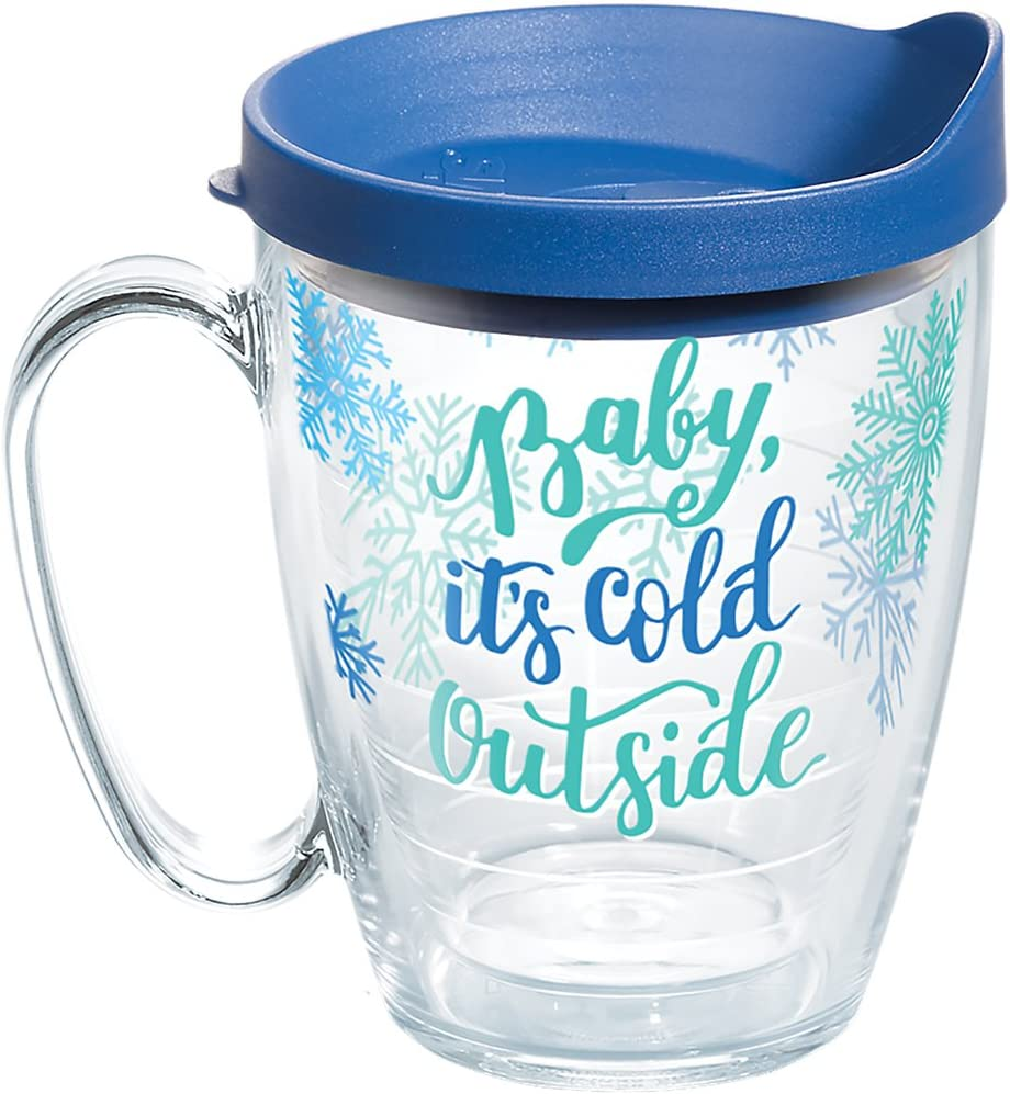 Tervis 1267731 Lid, Baby, its cold outside, so enjoy your favorite hot beverage longer in a mug made for a lifetime of carefree sipping. , Blue