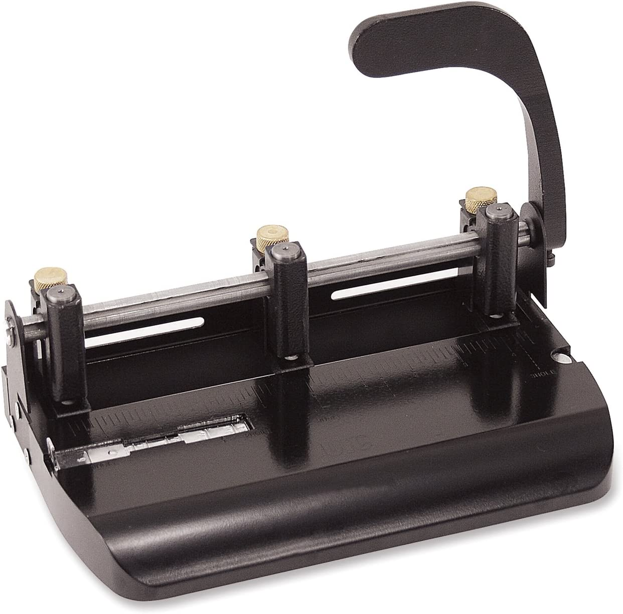 B00009L1WG Officemate Heavy Duty Adjustable 2-3 Hole Punch with Lever Handle, 32-Sheet Capacity, Black (90078) 71OSNEytHEL