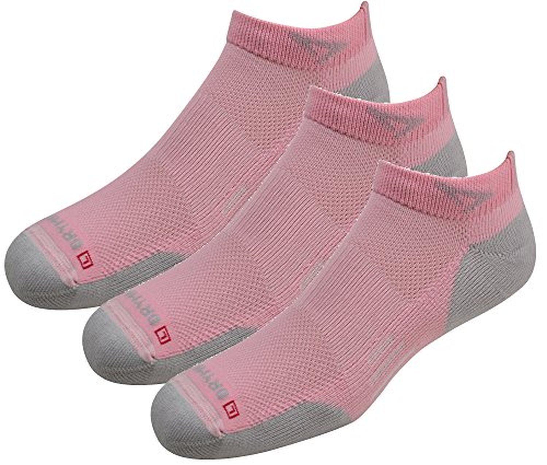 Drymax Socks Run Lite-Mesh Mini Crew - Pink/Gray W10-12, M8.5-10.5 - 3 Pack by Drymax