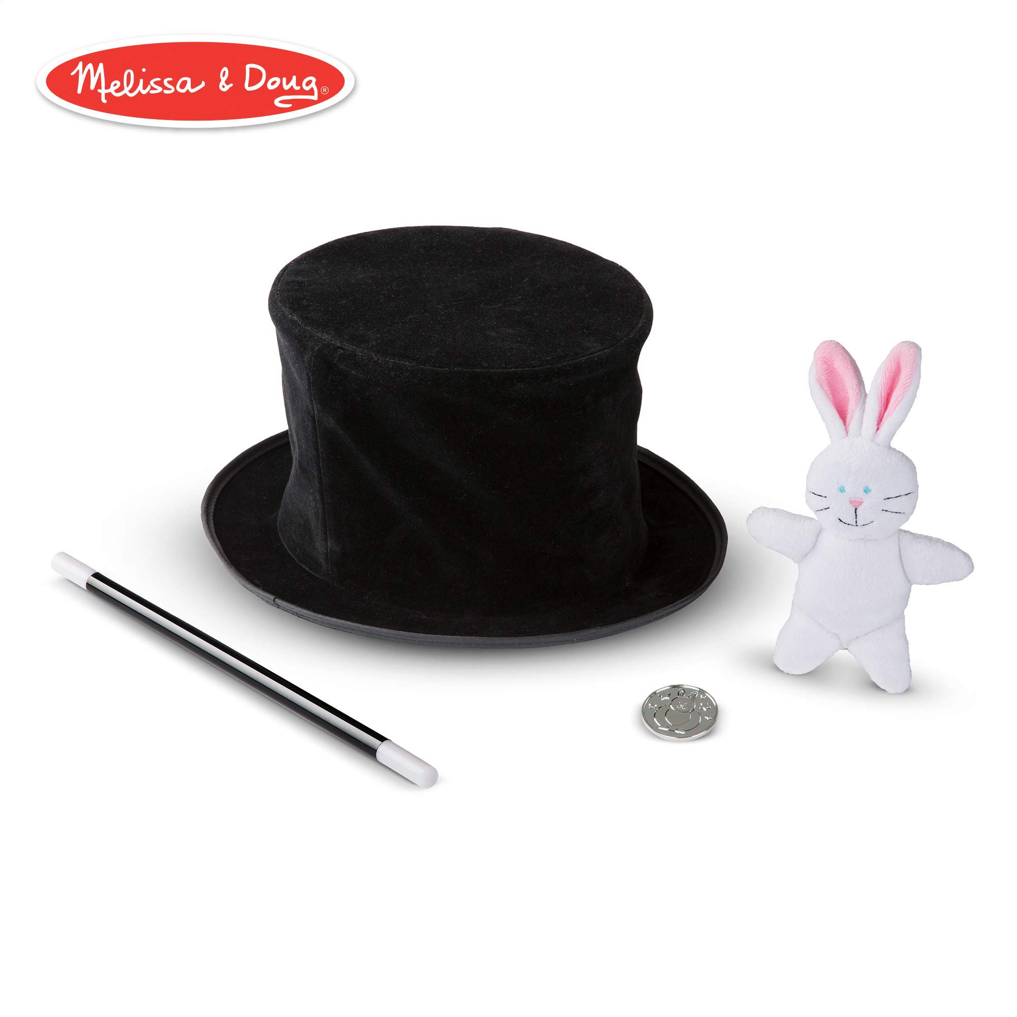 Melissa & Doug Magic in a Snap! Magician's Pop-Up Hat with Tricks (Illustrated Instructions, 4 Pieces) by Melissa & Doug
