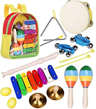 Juguetes de Instrumentos Musicales para Niños - Smarkids Juguetes Musicales de Percusion para Bebes Regalos de Cumpleaños de Navidad para 3 4 5 6 Edad Niñas ...