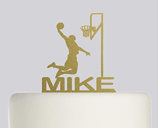 Decoración para tarta de cumpleaños, diseño de baloncesto: Amazon ...