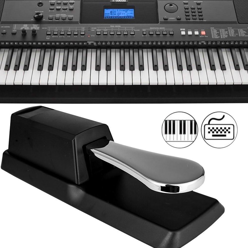 Pedal sustain profesional con interruptor de polaridad para piano digital Yamaha, Roland, Casio y teclado MIDI
