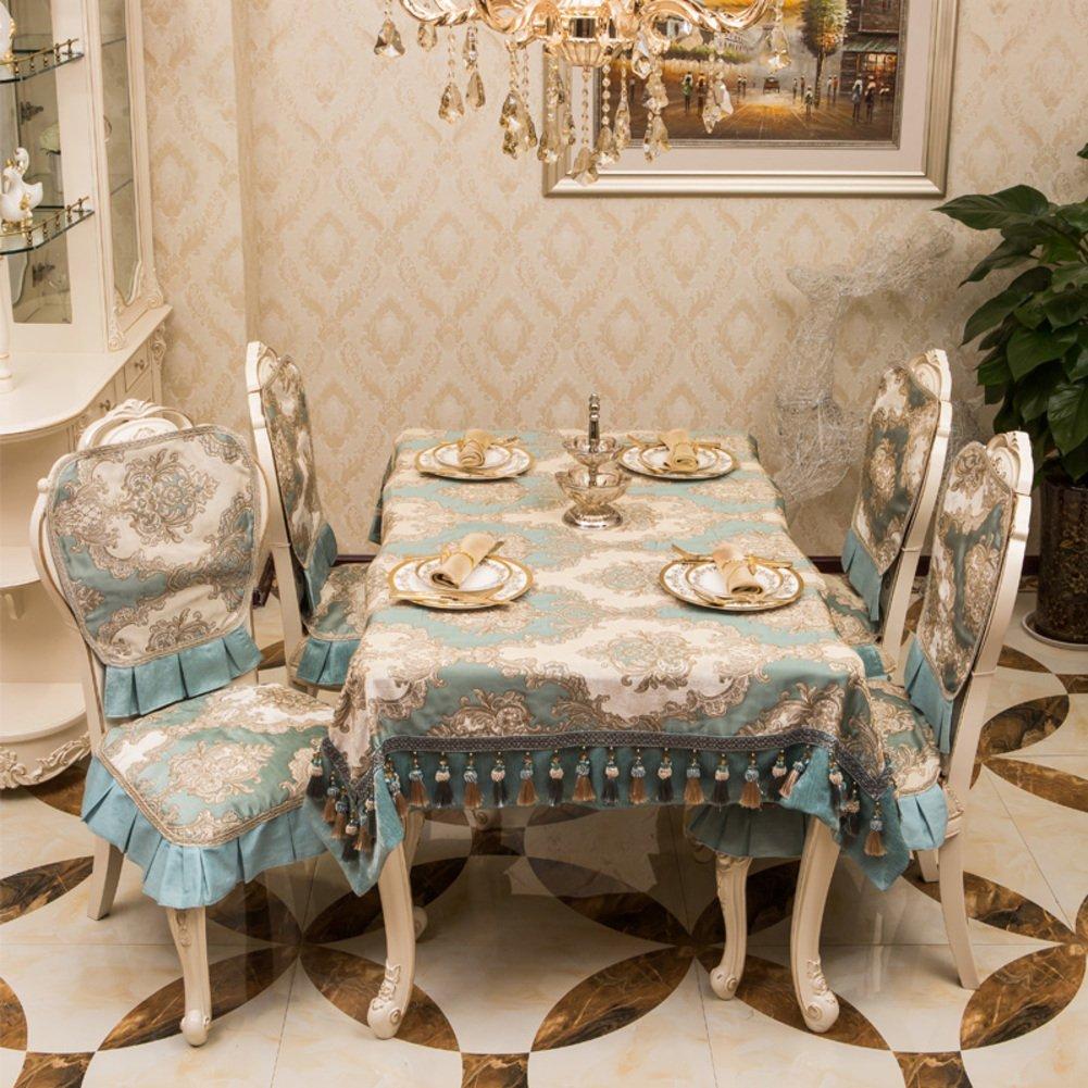 Table cloth,European high-grade fabric rectangular household tablecloth-B 130x130cm(51x51inch)
