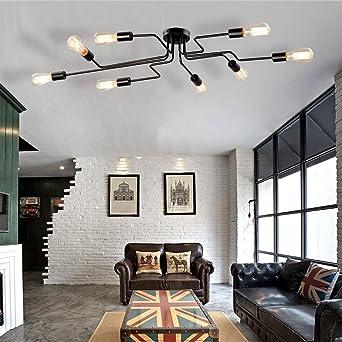 Vintage Deckenleuchte Frideko DIY Industrie Kreative Deckenlampe Mit 8 Flammige Fr Wohnzimmer Esszimmer Bar Cafeteria