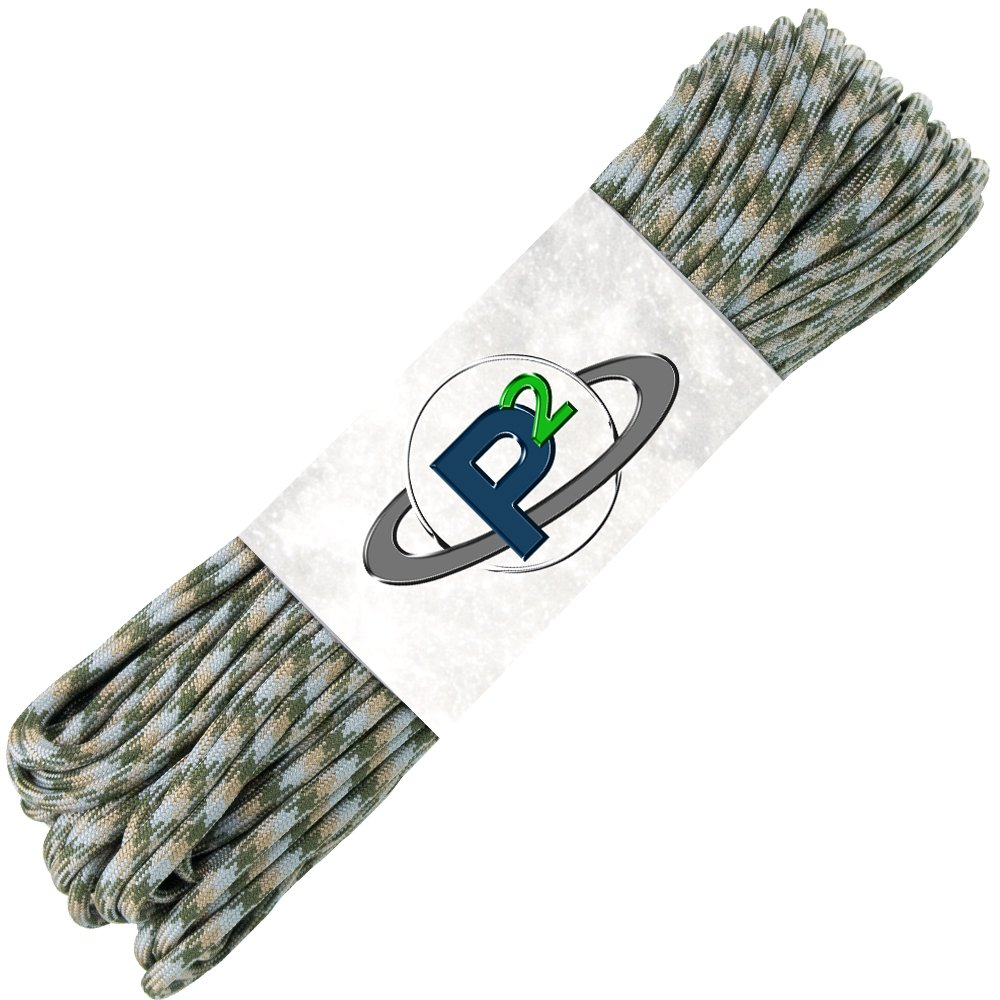 PARACORD PLANET Mil-Spec Commercial Grade 550lb Type III Nylon Paracord (Camo, 25 feet) by PARACORD PLANET