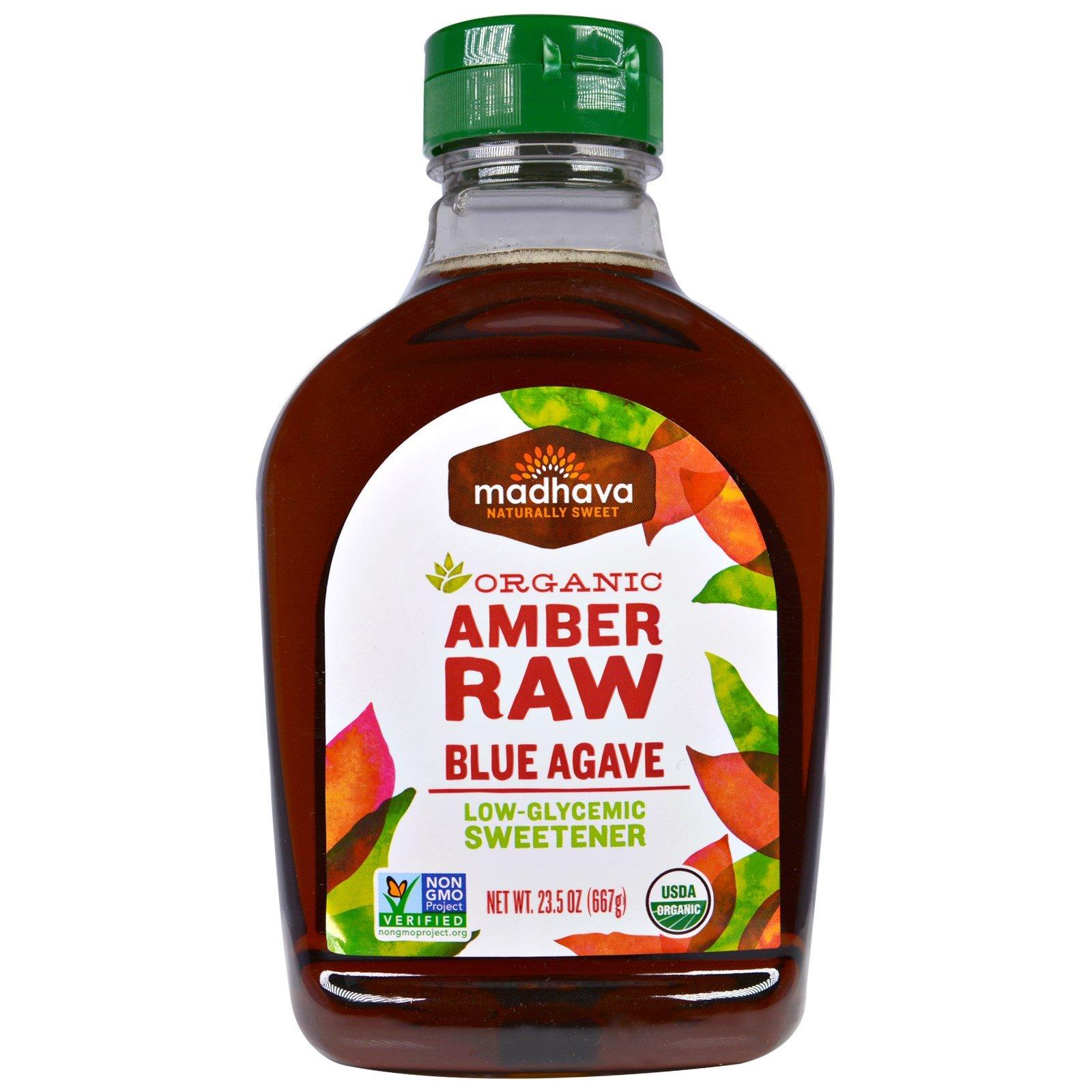 Madhava Natural Sweeteners, Organic Amber Agave Nectar, 23.5 oz (667 g) - 2pcs