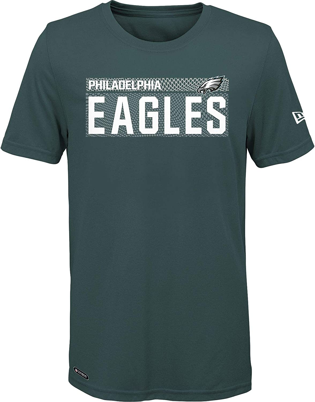 NFL Mens Primary Logo Wordmark Measured Performance Team Color T-Shirt
