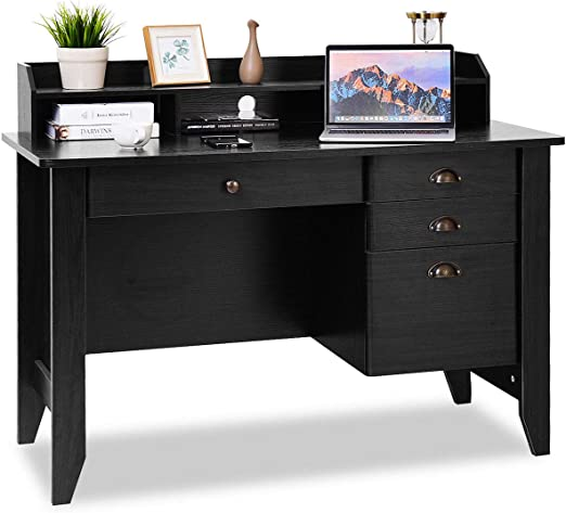 Amazon Com Tangkula Computer Desk Home Office Desk Wood Frame