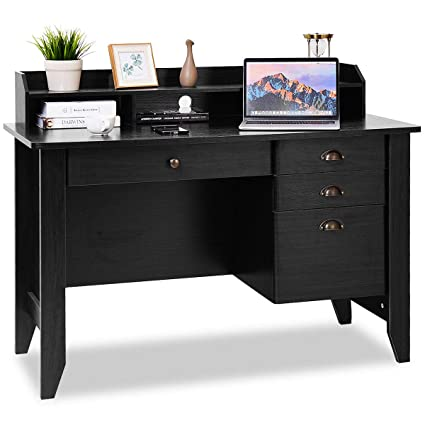Amazon Tangkula Computer Desk Home Office Wood Frame Vintage