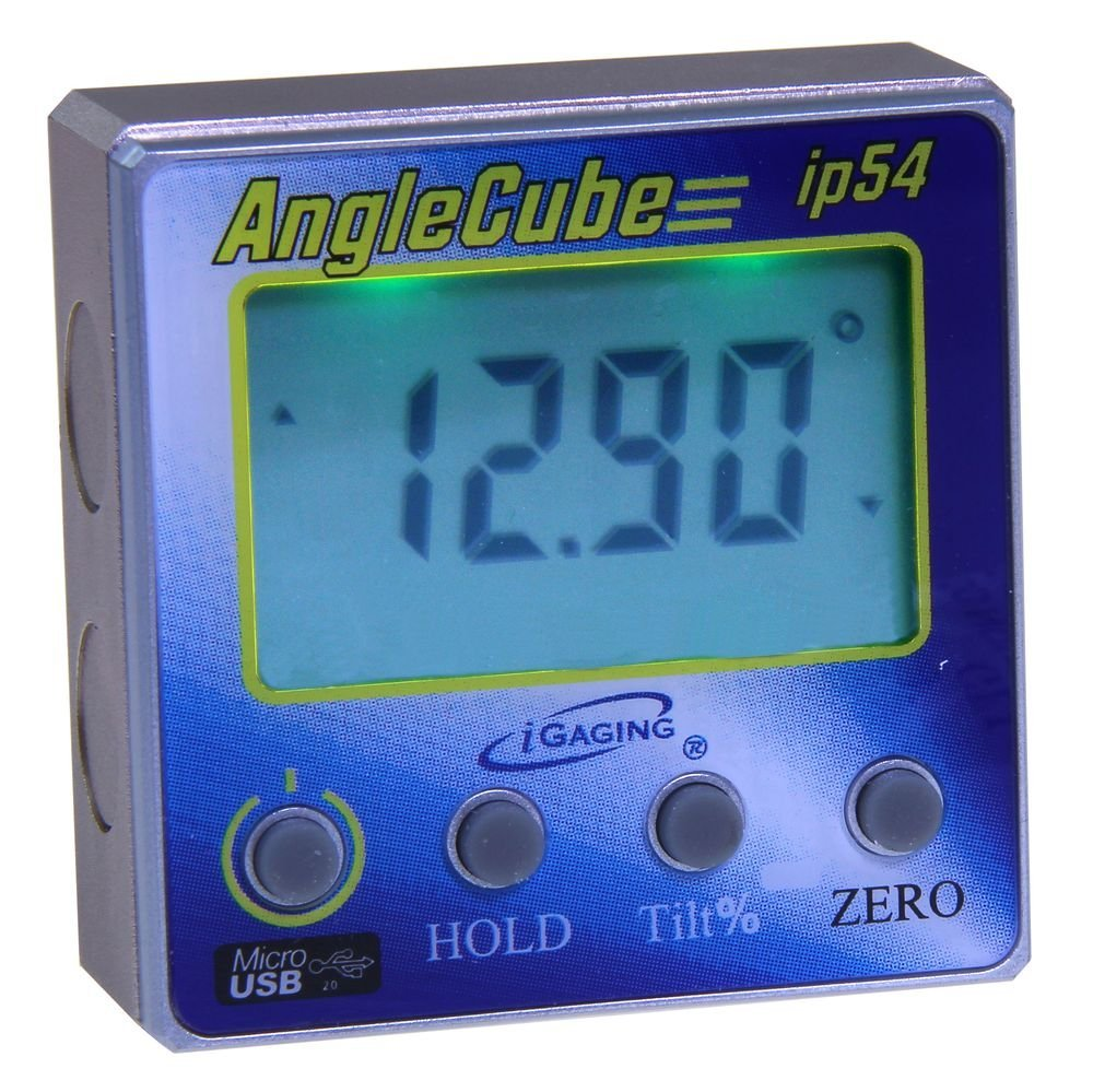 iGaging 35-2269 Angle Gage BACKLIT Digital Electronic Magnetic Level/Protractor/Bevel Gauge Angle Cube Gen 3