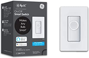 C by GE On/Off 3-Wire Smart Switch - Works with Alexa + Google Home Without Hub, Button Style Smart Switch, Single-Pole/3-Way Replacement, White