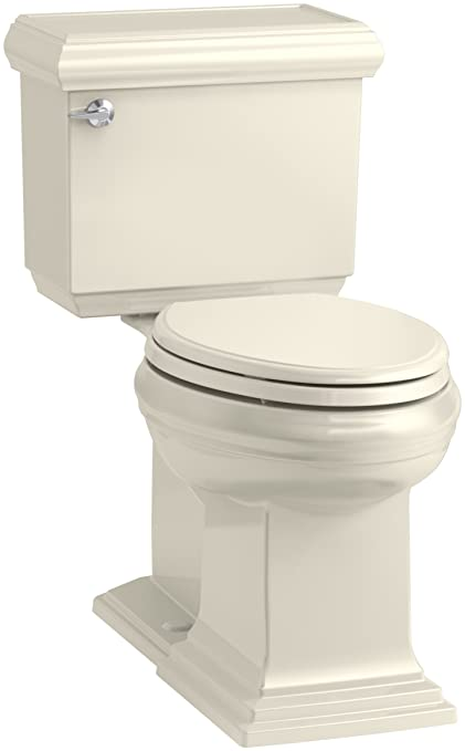 100% high quality wholesale dealer delicate colors KOHLER K-6999-47 Memoirs Classic Comfort Height Elongated 1.28 GPF Toilet  with Aqua Piston Flush Technology, Concealed Trap Way and Left-Hand Trip ...