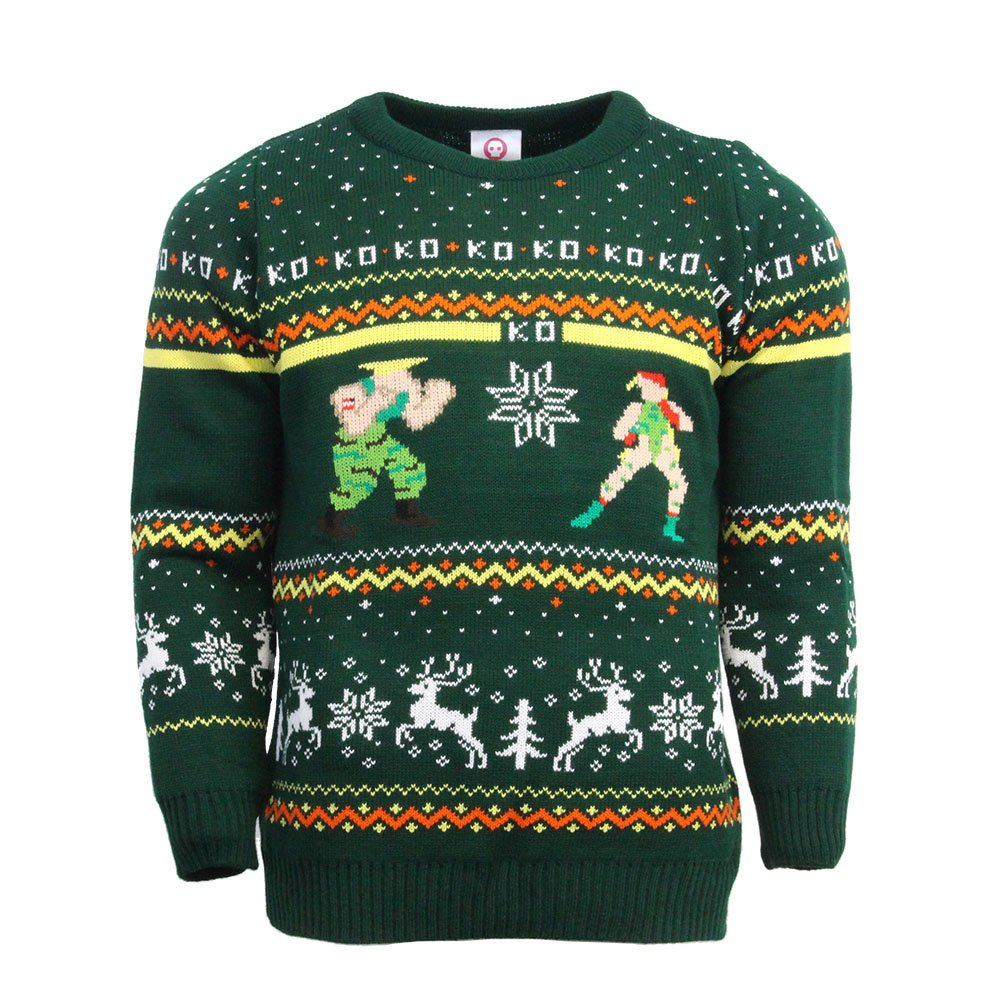 Official Street Fighter Guile vs Cammy Christmas Jumper / Ugly Sweater Numskull