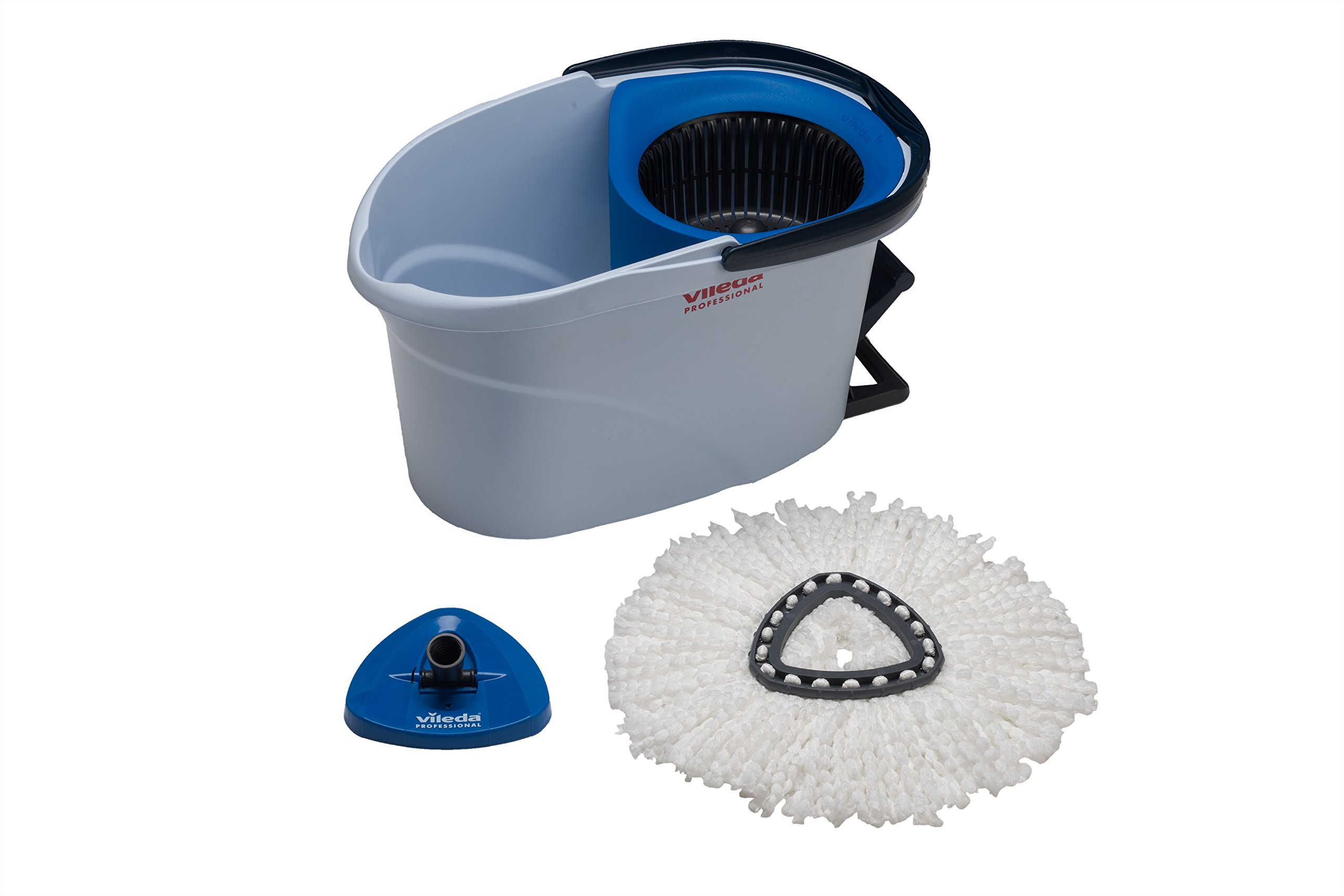 Vileda UltraSpin Mini Kit, Spin Mop with Bucket System for Professional Kitchen Floor Cleaning