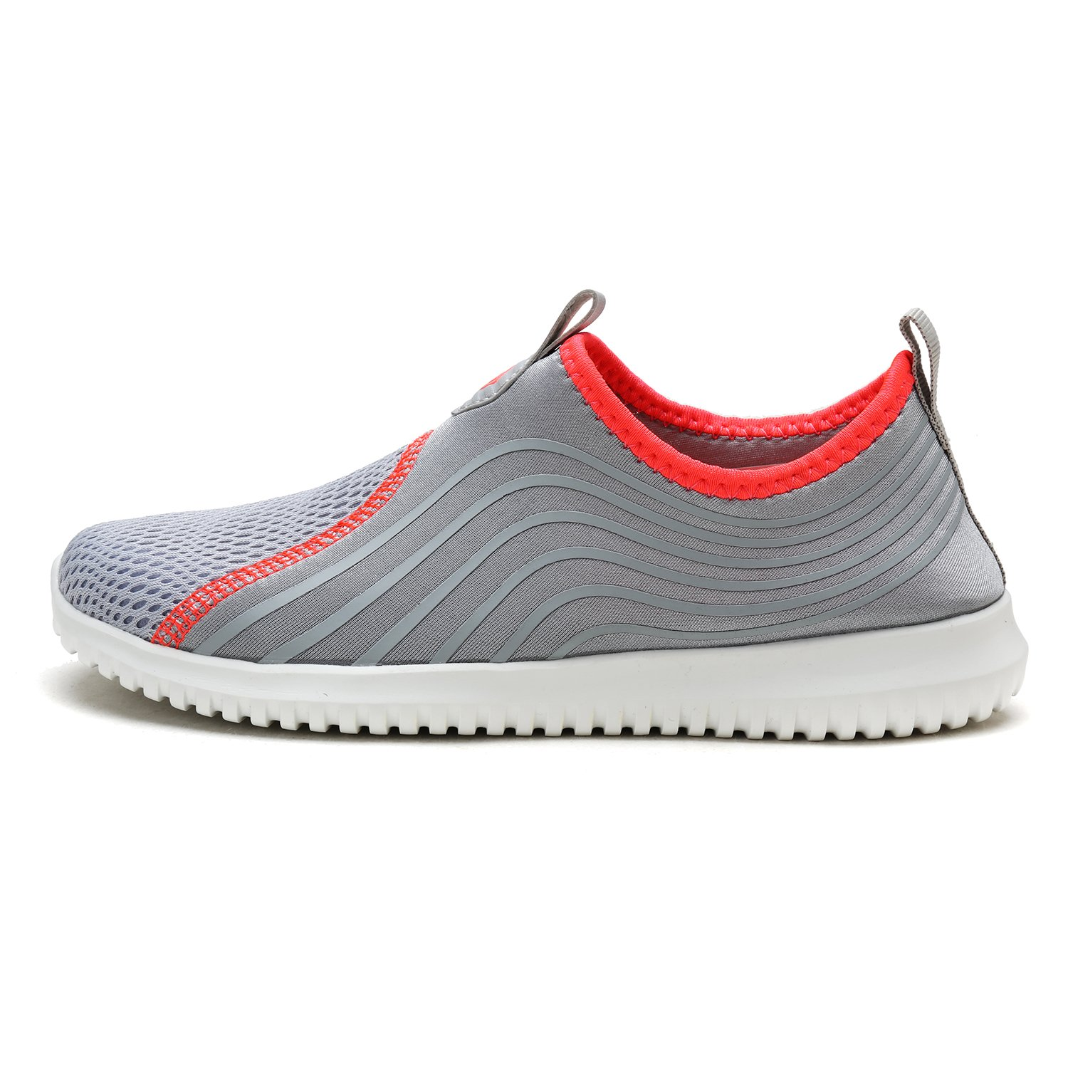 DREAM PAIRS Quick-Dry Water Shoes Sports Walking Casual Sneakers for Women B07888F1JT 5.5 M US|Lt.grey/Coral