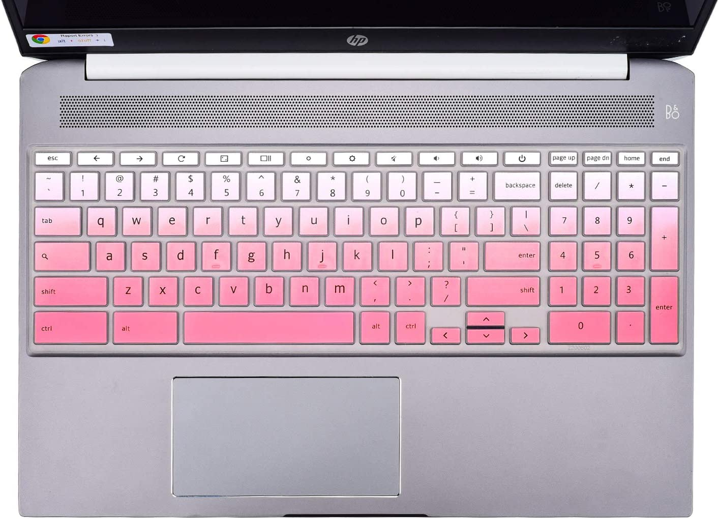 "HP Chromebook 15.6"" Keyboard Cover Skins Compatible with 2020 New HP Chromebook 15.6-Inch Laptop 15-de0010nr 15-de0517wm 15-de0523dx(Ombre Pink)"