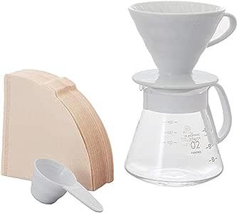 Hario XVDD-3012W Coffee Pourover Set, White
