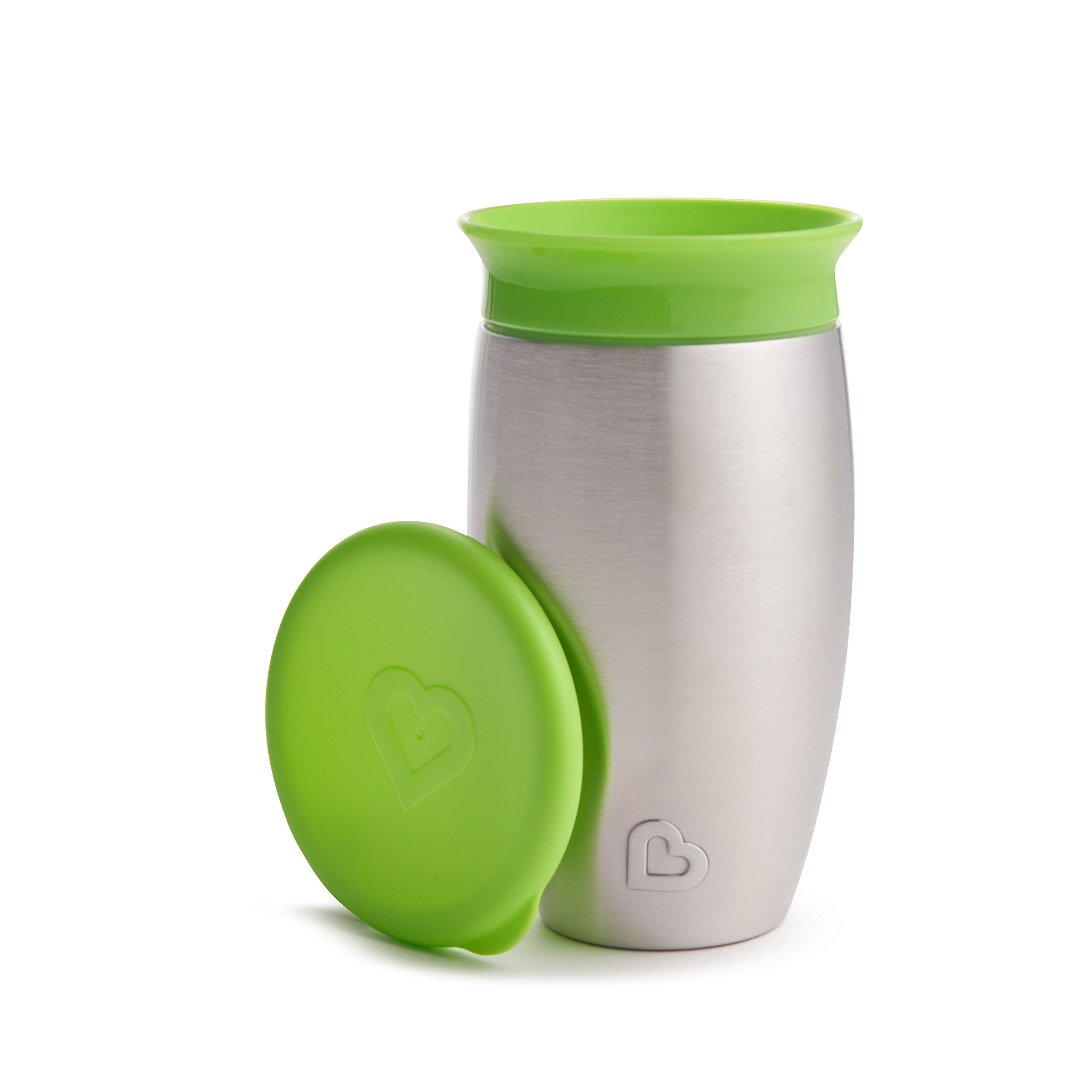Munchkin Miracle Stainless Steel 360 Sippy Cup, Green, 10 Ounce by Munchkin