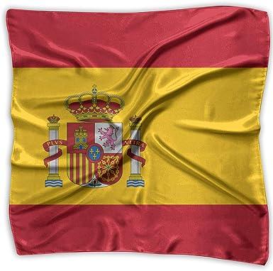 Bufanda cuadrada Bandera de España Cálido chal largo para mujer envuelve bufandas grandes: Amazon.es: Ropa y accesorios
