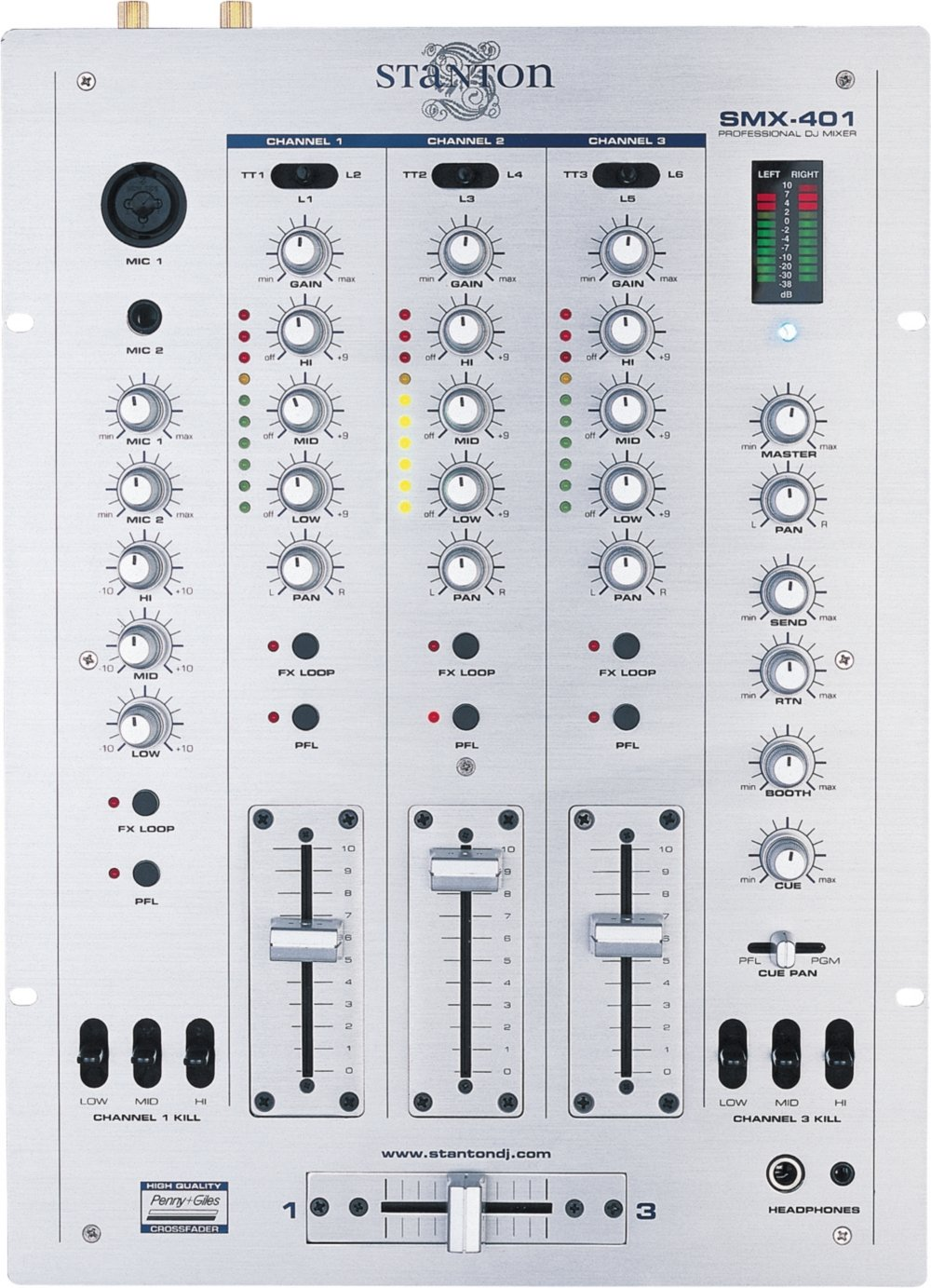 Amazon.com: Stanton SMX-401 3-Channel DJ Mixer (Discontinued by Manufacturer): Home Audio & Theater